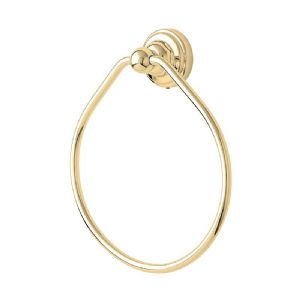 CLEARANCE - 6934 Perrin & Rowe 180mm Towel Ring - Gold